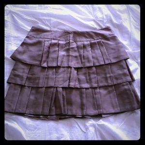 Banana Republic 3-tiered layered mini skirt, taupe